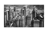 Looking Towards Brooklyn over the Skyscrapers of Broadway, New York City, USA, C1930S Giclee Print by  Aerofilms