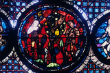 Adam and Eve (The Fall of Ma), Stained Glass, Chartres Cathedral, France, 1194-1260 Photographic Print