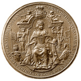 Third Great Seal of Queen Anne, Obverse, 1702-1714 Photographic Print
