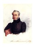 Portrait of Decembrist Ivan Povalo-Shveikovsky (1787-184), 1839 Giclee Print by Nikolai Alexandrovich Bestuzhev