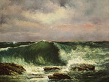 La vague Reproduction photographique par Gustave Courbet