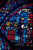 Constantine Presents Relics to Charlemagne, Stained Glass, Chartres Cathedral, France, C1225 Photographic Print