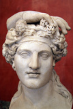 Head of Dionysus, God of Wine and Patron of Wine Making Photographic Print