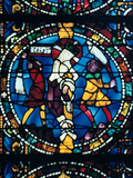 The Flagellation, Stained Glass, Chartres Cathedral, France, 1194-1260 Photographic Print