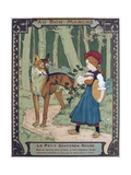 Litttle Red Riding Hood, 19th Century Giclee Print