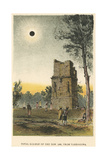 Total Solar Eclipse of 1860 Observed from Tarragona, Spain, 1884 Giclee Print