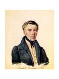 Portrait of Decembrist Alexander Yushnevsky (1786-184), 1839 Giclee Print by Nikolai Alexandrovich Bestuzhev