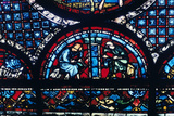 Stained Glass, Chartres Cathedral, France, 1194-1260 Photographic Print