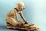 Model of a Baker Kneading Dough and Forming Loaves, Ancient Egyptian Photographic Print