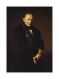 Portrait of the Poet Vasily Zhukovsky (1783-185), 1844 Giclee Print by Ferdinand Theodor Hildebrandt