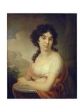 Portrait of Princess Anna Petrovna Gagarina, 1801 Giclee Print by Vladimir Lukich Borovikovsky