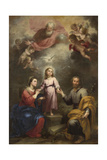 The Heavenly and Earthly Trinities (The Pedroso Murill), C. 1680 Giclée-tryk af Bartolomé Estebàn Murillo