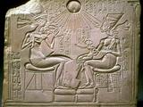 The Royal Family: Akhenaten, Nefertiti and their Children, Ca 1350 Bc Fotografisk tryk