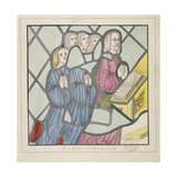 Detail of a Stained Glass Window, St Giles, South Mimms, Hertfordshire, C1800 Giclee Print