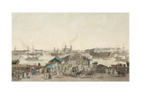 St. Petersburg's First Anniversary Celebration (The City's Centenar) on May 1803, 1804 Giclee Print by Mathias Gabriel Lory