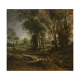 Evening Landscape with Timber Wagon, 1630-1640 Giclee Print by Pieter Paul Rubens