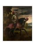 Equestrian Portrait of Charles V of Spain (1500-155), 1548 Giclee Print by  Titian (Tiziano Vecelli)