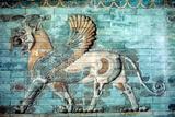 Griffin-Lion Relief in Glazed Brickwork  Achaemenid Period  Ancient Persia  530-330 Bc