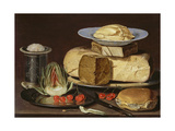 Still Life with Cheeses, Artichoke, and Cherries, Ca 1625 Giclee Print by Clara Peeters