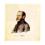 Portrait of Decembrist Nikolai Lorer (1794-187), 1832-1833 Giclee Print by Nikolai Alexandrovich Bestuzhev