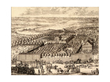 German Quarter (Nemetskaya Slobod) in Moscow (Left Par), 1705 Giclee Print by Adriaan Schoonebeek