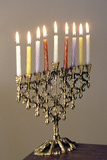 9-Branched Candelabra Used in Judaism at Hannukah Photographic Print