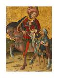 Saint Martin Sharing His Cloak, C. 1440 Giclee Print by  Blasco de Grañén