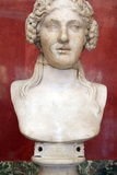 Portrait Bust of Dionysus, God of Wine and Patron of Wine Making Photographic Print