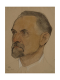 Portrait of Leonid Borisovich Krasin (1870-192), 1921 Giclee Print by Nikolai Andreevich Andreev
