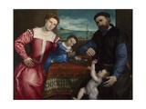 Portrait of Giovanni Della Volta with His Wife and Children, 1547 Giclee Print by Lorenzo Lotto