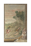 Apollo Killing the Cyclops (Fresco from Villa Aldobrandin), 1617-1618 Lámina giclée por  Domenichino