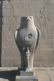 Giant Statue of the Ancient Egyptian Falcon-Headed God Horus, Edfu, Egypt Photographic Print