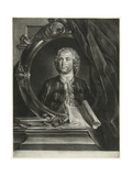 Portrait of the Composer Pietro Antonio Locatelli (1695-176) Giclee Print by Cornelis Troost