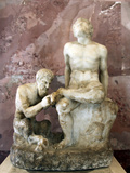 Pan and Satyr, Pan Removing a Splinter from a Satyr's Foot Photographic Print