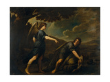 The Angel and Tobias with the Fish, C. 1640 Giclee Print by Andrea Vaccaro