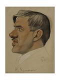 Portrait of the Author Korney I. Chukovsky (1882-196), 1923 Giclee Print by Nikolai Andreevich Andreev