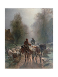 On the Way to the Market, 1859 Giclee Print by Constant Troyon