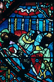 Miracle of the Flowering Lances, Stained Glass, Chartres Cathedral, France, C1225 Photographic Print