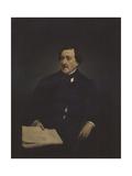 Portrait of the Composer Gioachino Antonio Rossini (1792-186) Giclee Print by Francesco Hayez