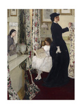 Harmony in Green and Rose: the Music Room, 1860 Giclee Print by James Abbott McNeill Whistler