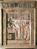 Stele of the Royal Scribe Ipi, Middle of the 14th Century Bc Photographic Print