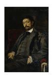 Portrait of the Opera Singer Angelo Masini (1844-192) Giclee Print by Konstantin Alexeyevich Korovin