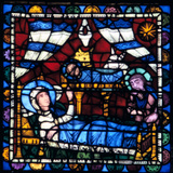 The Nativity, Stained Glass, Chartres Cathedral, France, 1194-1260 Photographic Print