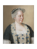Portrait of Empress Maria Theresia of Austria (1717-178), 1762 Giclee Print by Jean-Étienne Liotard
