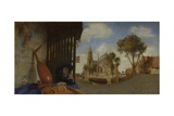A View of Delft, with a Musical Instrument Seller's Stall, 1652 Giclee Print by Carel Fabritius