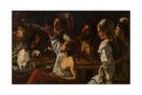 Card and Backgammon Players, Fight over Cards, 1620-1629 Giclee Print