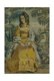 Lady by Tapestry. Portrait of Nadezhda Stanyukovich, 1903 Giclee Print by Viktor Elpidiforovich Borisov-musatov