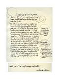 Draft of Albrecht Durer's Dedication to Bilibald Pirckheimer, C1523 Reproduction procédé giclée par Albrecht Durer