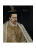 James VI and I (1566-162), King of Scotland, 1595 Giclée-Druck von Adrian Vanson