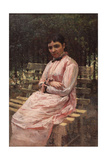 In a Park (Portrait of the Artist's Wife) Giclee Print by Nikolai Alexandrovich Yaroshenko
